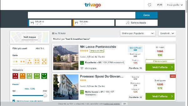 Cerca su Trivago.it