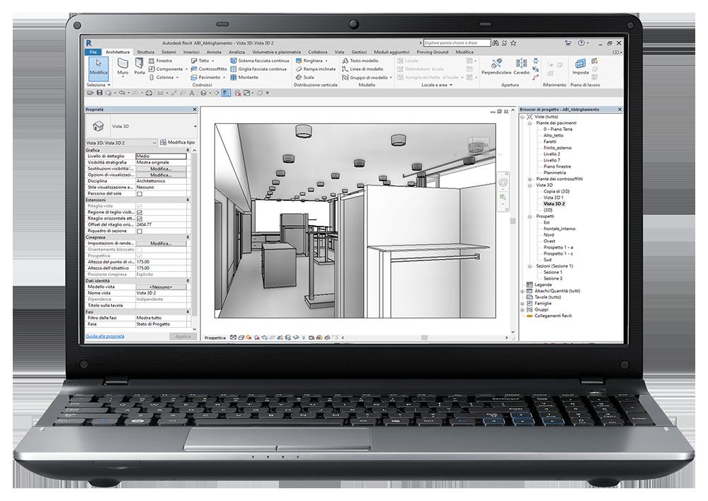 Autodesk Revit, il più utilizzato